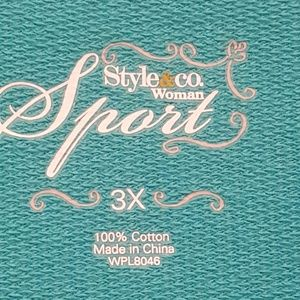 Style & Co Jackets & Coats - Style & Co. Sport Woman 3X Athleisure Jacket